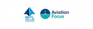 Logo MPL Simulator Solutions next to logo Aviation Focus